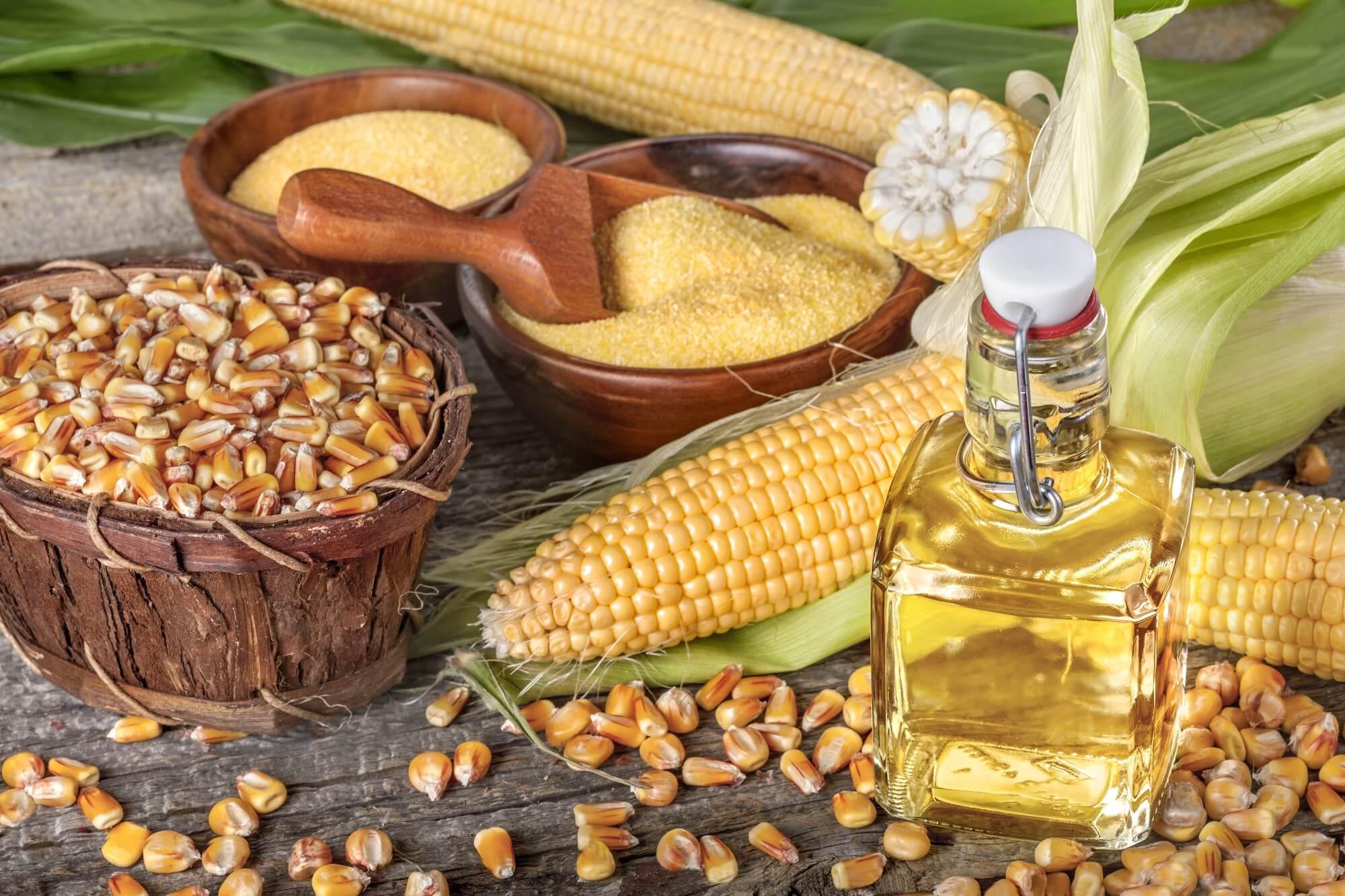 RBDW maïsolie<br/>Ruwe ontslijmde maïsolie